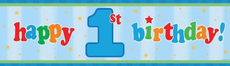 1 Geburtstag Junge Deko Erster Geburtstag Happy Kindergeburtstag