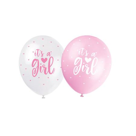 Luftballons It's a Girl - Deko Baby Party Babyshower