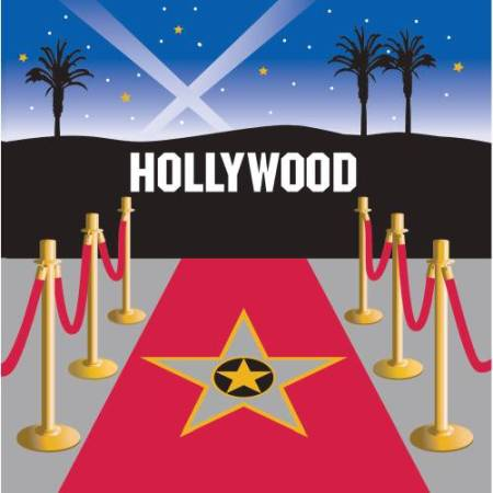 Servietten  Hollywood Film Party, 16 St. - Deko Kindergeburtstag