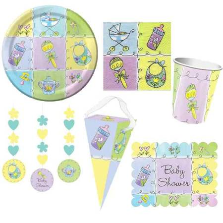 Partyset Babyparty, 69 tlg.