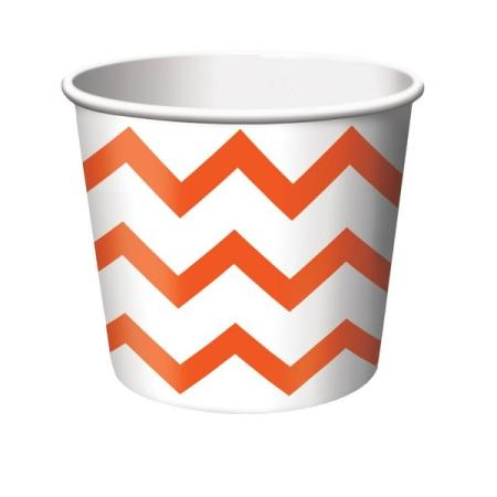 Naschbox Chevron orange, 6 St.