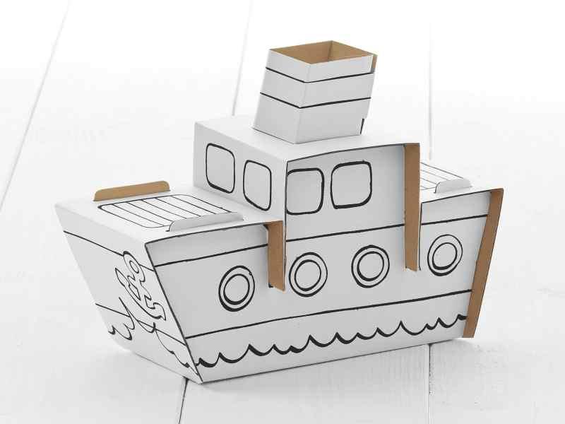 bastelset dampfer happy kindergeburtstag. Black Bedroom Furniture Sets. Home Design Ideas