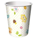 Becher Eulenparty, 8 St. - Deko Babyparty