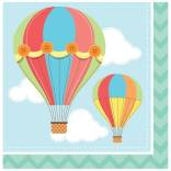 Servietten Baby-Ballon, 16 St. - Deko Babyparty